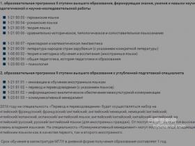 明斯克国立语言大学(外国语大学)研究生专业方向【参考】