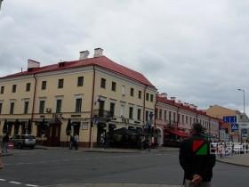 白俄罗斯首都明斯克老城区街道风景(2017.5月)