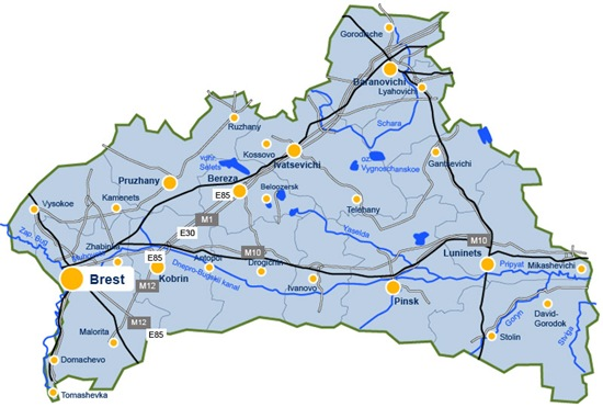 白俄罗斯布列斯特地图