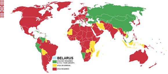 白俄罗斯免签国家