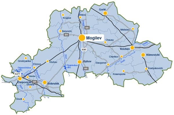莫吉廖夫州地图