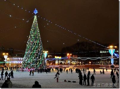 白俄罗斯首都明斯克新年