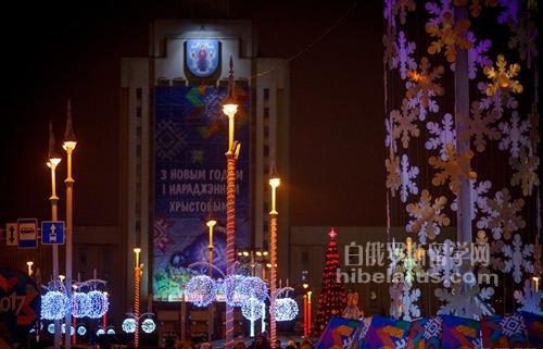 新年马上来了!明斯克市区处处洋溢着新年气息