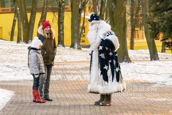 2017白俄罗斯首都明斯克新年图片(实拍)